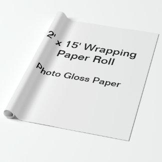 包装紙(2x15ロール、写真の光沢の紙) ラッピングペーパー