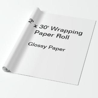 包装紙(2x30ロール、光沢紙) ラッピングペーパー