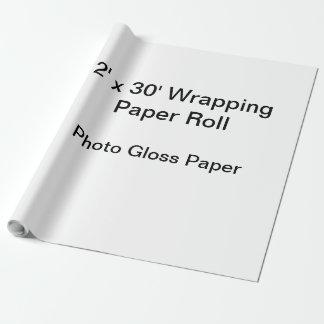 包装紙(2x30ロール、写真の光沢の紙) ラッピングペーパー