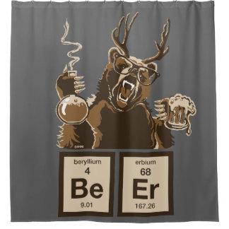 化学くまによって発見されるビール シャワーカーテン