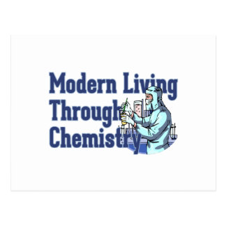 化学によって住んでいるモダン ポストカード