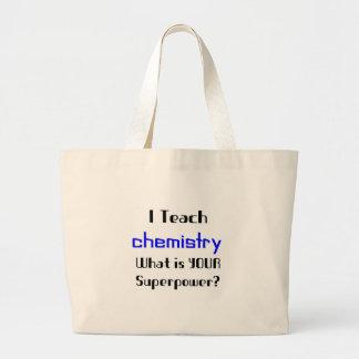 化学を教えて下さい ラージトートバッグ