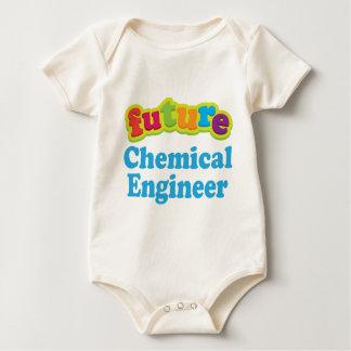 化学エンジニア(未来)の幼児ベビーのTシャツ ベビーボディスーツ