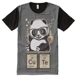 化学パンダによって発見されるかわいい オールオーバープリントシャツ