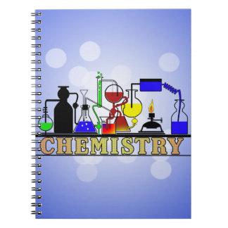 化学ビーカーおよびフラスコのロゴ ノートブック
