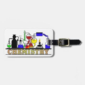化学ビーカーおよびフラスコのロゴ ラゲッジタグ