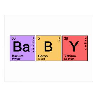化学ベビー ポストカード