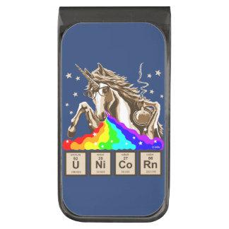 化学ユニコーンは虹を吐きます ガンメタル マネークリップ