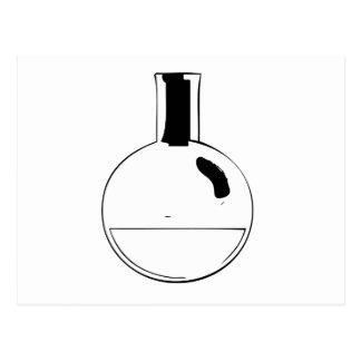 化学一定の円形のフラスコ ポストカード