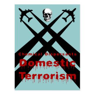 化学分散剤は国内テロリズムです ポストカード