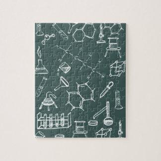 化学実験装置の走り書き ジグソーパズル