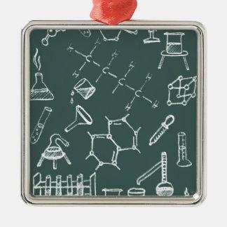 化学実験装置の走り書き メタルオーナメント