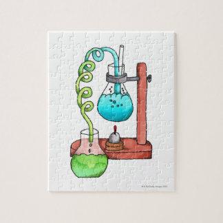 化学実験 ジグソーパズル