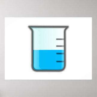 化学科学のビーカー ポスター