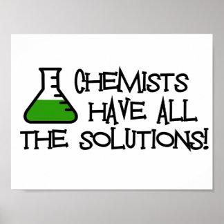 化学者にすべての解決があります ポスター