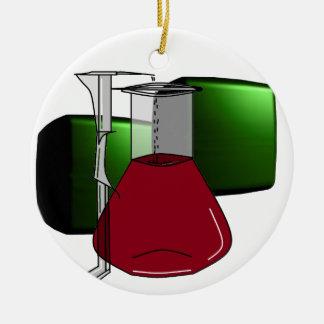 化学者化学ビーカーの試験管の解決 セラミックオーナメント