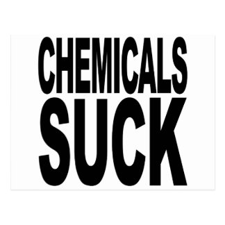 化学薬品は吸います ポストカード