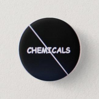 化学薬品を通したスラッシュ 3.2CM 丸型バッジ