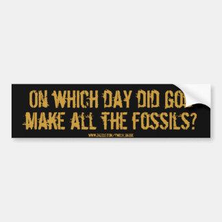 化石か。 バンパーステッカー