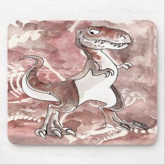 化石とのティラノサウルス・レックスのレックスのマウスパッド マウスパッド