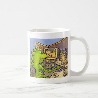 化石のハンター コーヒーマグカップ