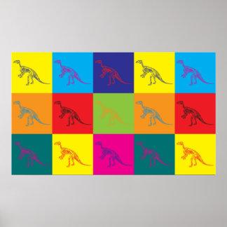 化石のポップアート ポスター