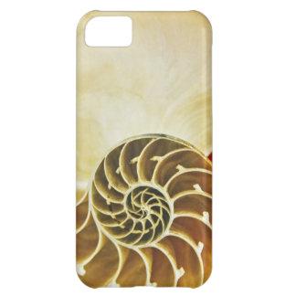 化石の貝Iの電話5やっとそこに箱の白 iPhone5Cケース