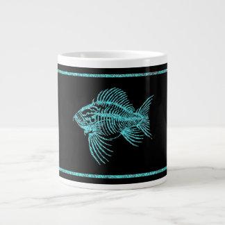 化石の魚 ジャンボコーヒーマグカップ