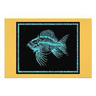 化石の魚 フォトプリント
