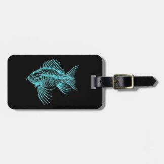 化石の魚 ラゲッジタグ