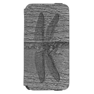 化石化されたトンボ iPhone 6/6Sウォレットケース