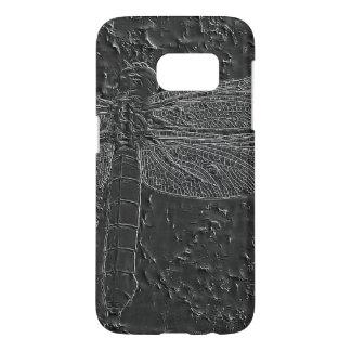 化石化されたトンボ SAMSUNG GALAXY S7 ケース
