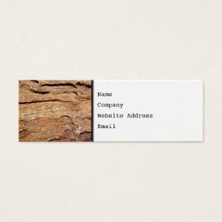 化石化された木の写真 スキニー名刺