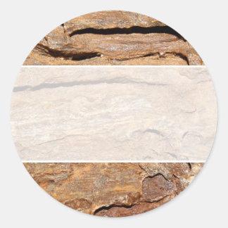 化石化された木の写真 ラウンドシール