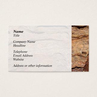 化石化された木の写真 名刺