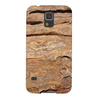 化石化された木の写真 GALAXY S5 ケース