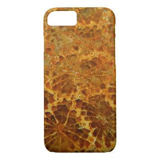 化石化された珊瑚の自然な碧玉の宝石用原石 iPhone 8/7ケース