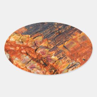 化石木 楕円形シール