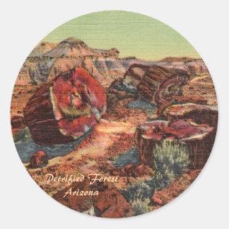 化石森林アリゾナ ラウンドシール