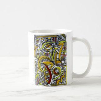 化石-抽象美術のマグ コーヒーマグカップ