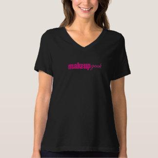 化粧のギークのV首のTシャツ Tシャツ
