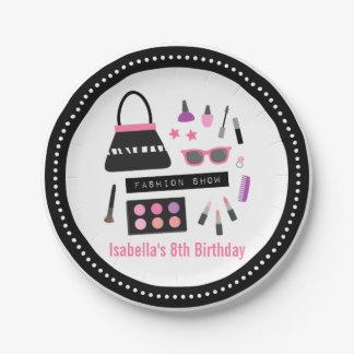 化粧のファッション・ショーの誕生会の供給 ペーパープレート
