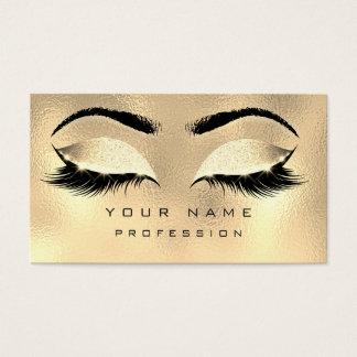 化粧の眉毛の鞭のグリッターの金属魅力的な金ゴールド 名刺