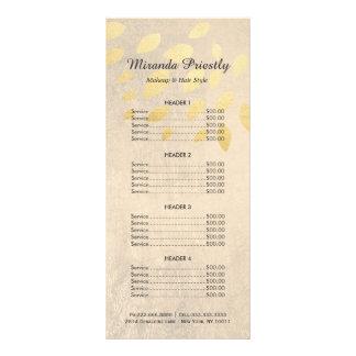 化粧の美容院のエレガントな陸軍少佐の階級章の値段表 ラックカード