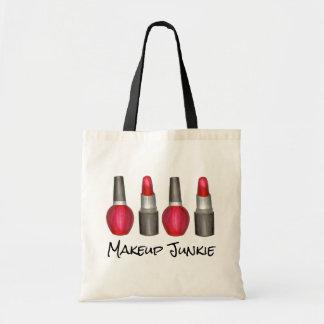 化粧の麻薬常習者の赤い口紅のマニキュアの美しいのトート トートバッグ