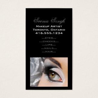 化粧のSmokeyの目の灰色 名刺