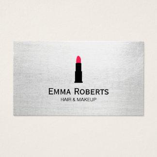 化粧及び美容師の口紅のエレガントなミニマリスト 名刺