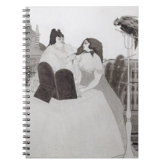 化粧台の女性(インクおよび洗浄) ノートブック