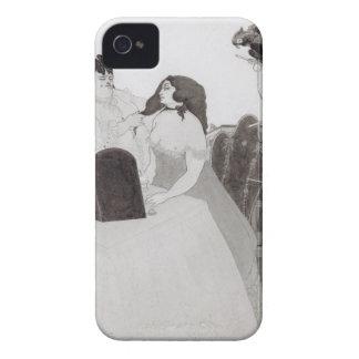 化粧台の女性(インクおよび洗浄) Case-Mate iPhone 4 ケース