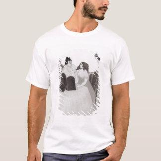 化粧台の女性(インクおよび洗浄) Tシャツ